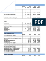 Reorganized Financial Statements