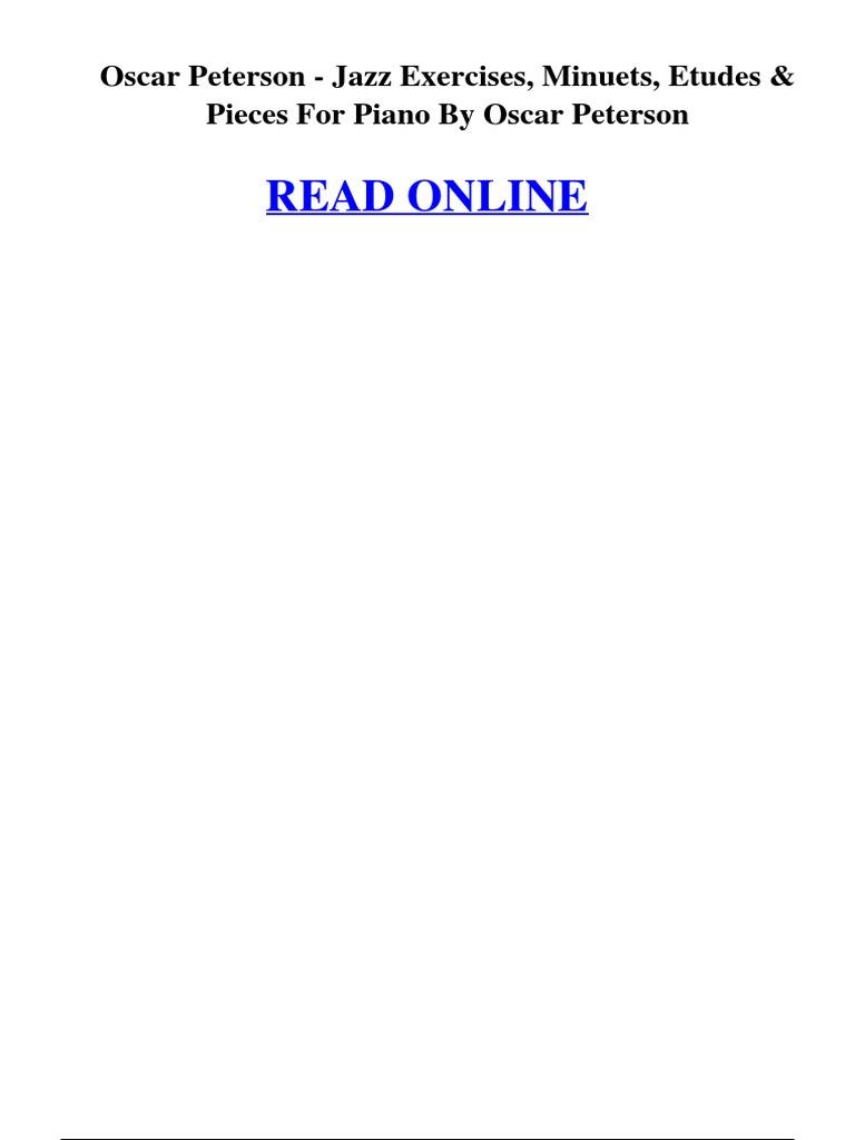 Oscar peterson jazz exercises minuets etudes pieces for piano by oscar peterson jazz exercises minuets etudes pieces for piano by oscar peterson sheet music jazz fandeluxe Gallery