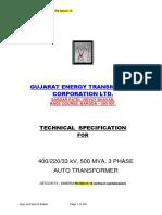1.4) 500 MVA 400-220-33 kV R4 March 16