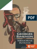 Memorias Intimas - Georges Simenon