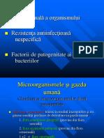 CURS 4 - Flora Normala , Apararea Antiinf. Factori de Pa