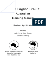 UEB Australian Training Manual Revised April 2014