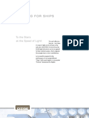 Dose Lighting For Ships Pdf Searchlight Light Emitting Diode