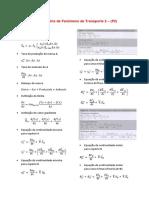Formulário de Fenômeno de Transporte 3 - Cap.3 (P1)