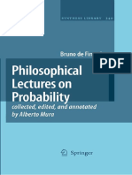 Bruno de Finetti Philosophical Lectures on Probability