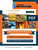 Daily Commodity Prediction Report by TradeIndia Research 01-12-2017