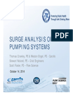 Surge Suppression of Pumping and Distribution Systems Crowley
