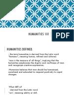 Humanities 101