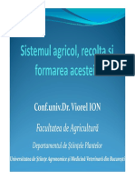 Sistemul Agricol, Recolta Si Formarea Acesteia