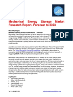 Mechanical Energy Storage Market Research Report- Forecast to 2023