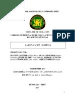 Monografia de Epistemologia de Las Ciencias Sociales