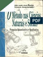 O Método Nas Ciências Naturais e Socias