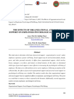 The Effects of Organizational and Social Support on Employees Psychological Well-being