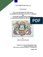 LA CASA DE DIOS EN MÁLAGA-   LA HERMANDAD DE LA SANTA CARIDAD   DE   NUESTRO SEÑOR JESUCRISTO Y   LA IGLESIA-HOSPITAL DE SAN JULIÁN.pdf