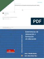 Experiencias de Innovacion y Formacion en Educacion (Maquillon Alonso)