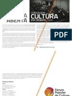 Carta Aberta Fórum Popular de Cultura