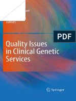 Jean-Jacques Cassiman Auth., Ulf Kristoffersson, Jörg Schmidtke, J. J. Cassiman Eds. Quality Issues in Clinical Genetic Services