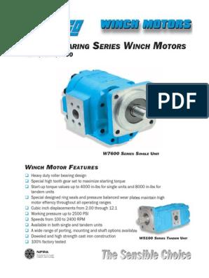 Winch Motor Catalog | Gear | Torque