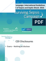 Surviving Sepsis Campaign 2016 Guidelines Presentation Final