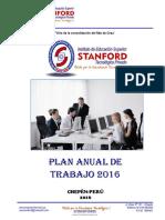 3. Plan Anual de Trabajo 2016