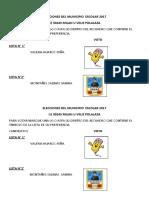 Elecciones Del Municipio Escolar 2017