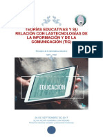 TEORÍAS EDUCATIVAS Y SU RELACIÓN CON LAS TECNOLOGÍAS DE LA INFORMACIÓN Y DE LA COMUNICACIÓN (TIC)