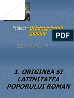 Originea Si Latinitatea Poporului Roman.