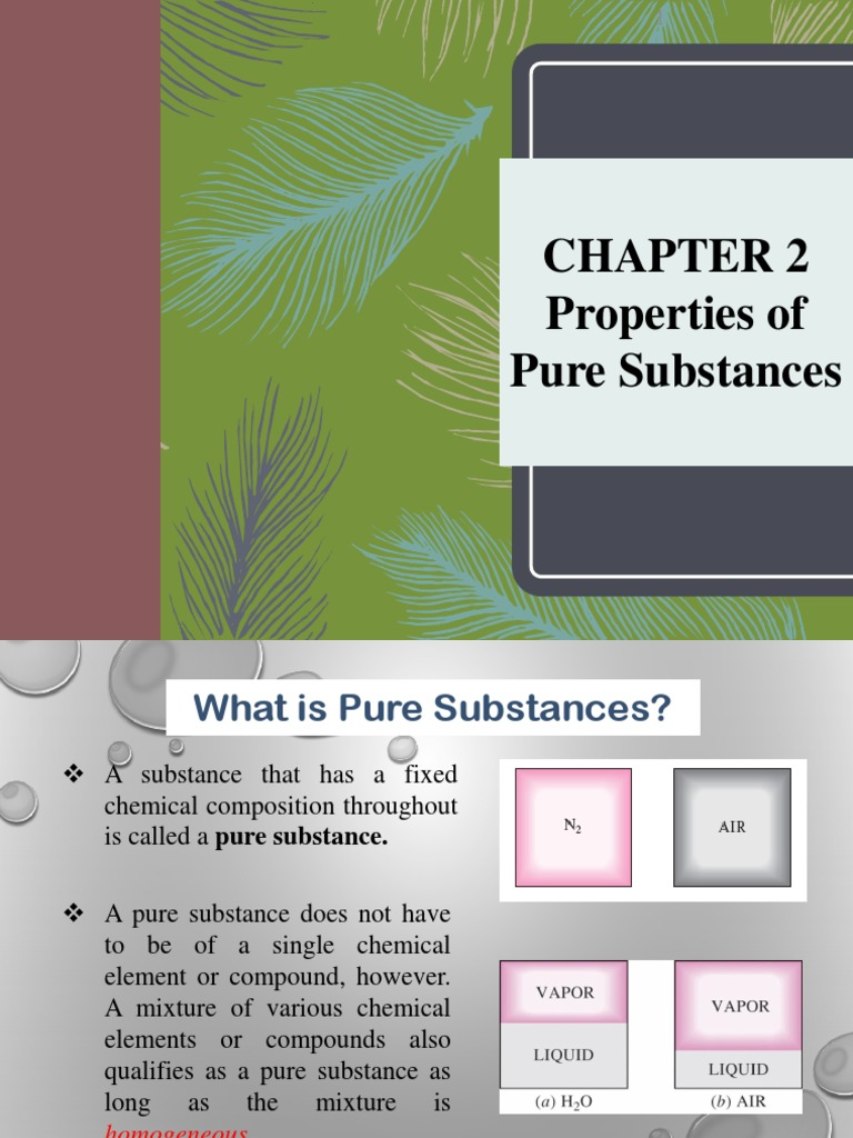 Chapter 2 Pure Substanceppt