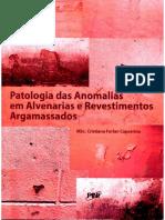 Livro Patologias Alvenaria e Revestimentos Argamassados