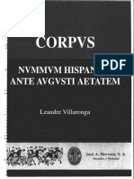 Corpvs Nvmmvm Hispaniae Ante Avgvsti Aetatem,