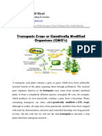 Transgenic Crops or Genetically Modified Organisms GMO