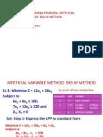 LPP- Big M Method