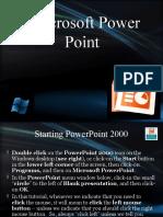 Microsoft Power Point tutorial