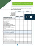 Mortgage Comparison Worksheet
