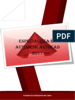 Especialista en Autodesk Autocad 2017