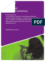 Planning Residential Extension Guidelines 2003