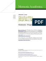 Programa sobre el trabajo enajenado y los mecanismos de dominación