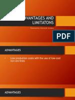 Advantages and Limitatons