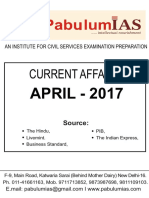 Current Affairs 01.04.17 to 30.04.17