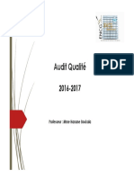 Audit Qualité