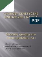 Choroby Genetyczne Dziedziczne i Nabyte