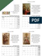 Calendário Católico de 2018