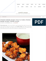 Chicken Kebab Recipe _ How to Make Chicken Kabab Recipe _ Kebab Recipe
