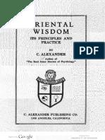 1924 Alexander Oriental Wisdom