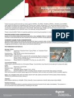 Bulletin 13B Acceptable Material of Construction SABO FOAM