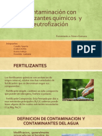 Contaminación Con Fertilizantes Químicos y Eutroficación