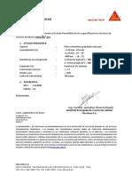 Certificado de Calidad Sikagrout 212