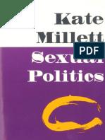 Sexual Politics Kate Millett Intro + Part 1