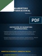 Semana N°11 - Marketing Internacional - 1ra Parte