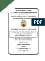 Informe de CIA Minera Carveli Sac de Enriquez Laura Jose Miguel